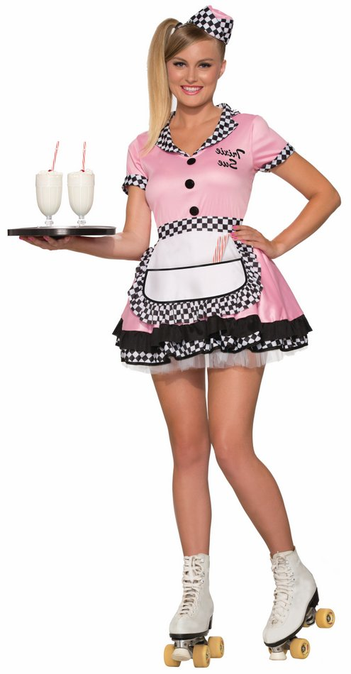 810ca128c20e Adult Pink 50's Waitress Trixie Sue Costume - Candy Apple Costumes ...