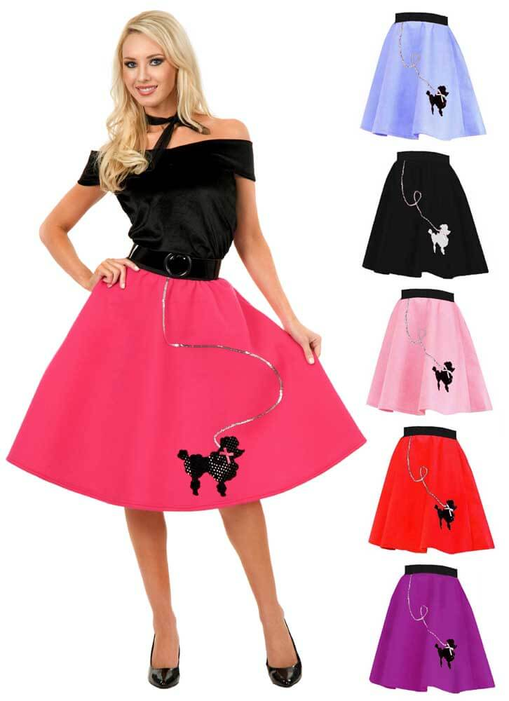3251185acf840 Adult 50's Felt Poodle Skirt - More Colors - Candy Apple Costumes ...