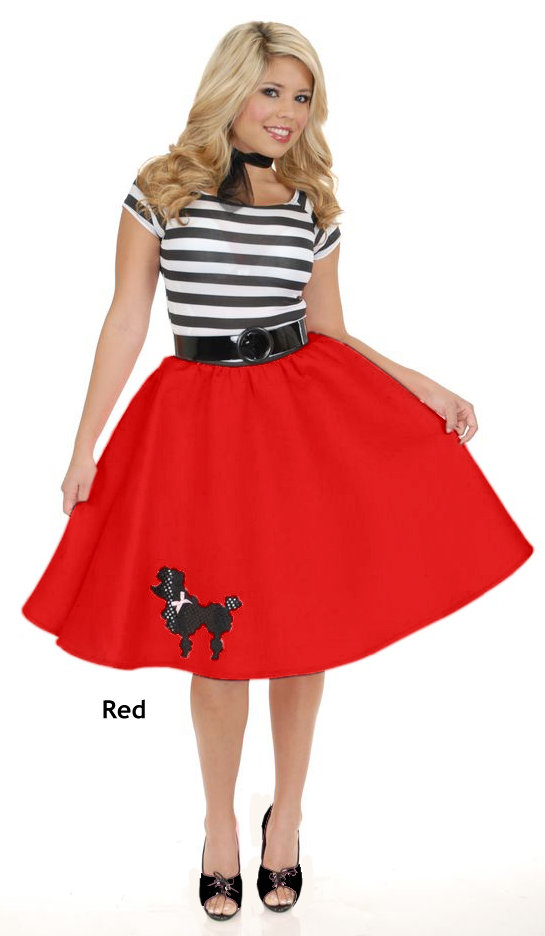 ... Adult 50u0027s Felt Poodle Skirt - More Colors ...  sc 1 st  Candy Apple Costumes & Adult 50u0027s Felt Poodle Skirt - More Colors - Candy Apple Costumes ...
