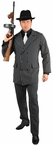 Adult 6-Button Pinstriped Gangster Suit Costume