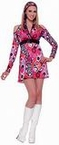 Adult 70's Hot Pink Mod Costume