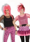 Adult 80's Unisex Mesh Top - Hot Pink or Black