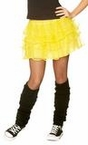 Adult 80's Neon Yellow Pettiskirt
