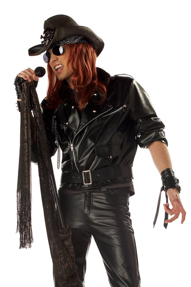 Adult 80 39 s rock star jacket costume sale for Rock star photos for sale