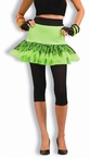 Adult 80's Neon Green Flirty Skirt, Size M/L