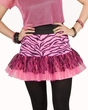 Adult 80's Neon Pink Zebra Flirty Skirt