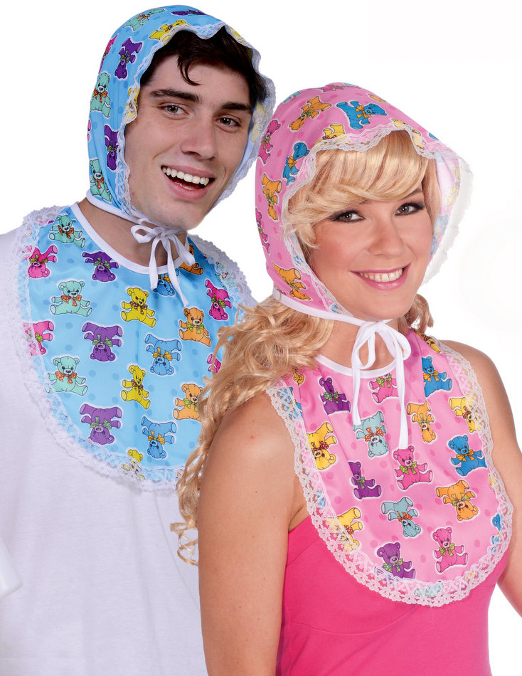 Bibs For Adults >> Adult Baby Bonnet And Bib Baby Costume Candy Apple Costumes