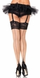 Adult Backseam Cuban Heel Sheer Thigh Highs