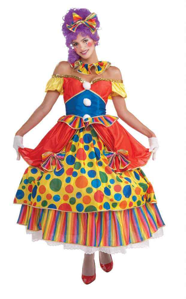 Adult Belle Of The Big Top Clown Costume Candy Apple Costumes