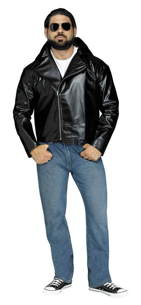 Adult Black 50's Rock 'N' Roll Jacket - Candy Apple Costumes