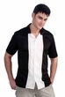 Adult Black and Ivory Bowling Shirt