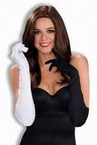 Adult Black and White Long Masquerade Gloves