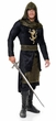 Adult Black/Gold Renaissance Prince Costume