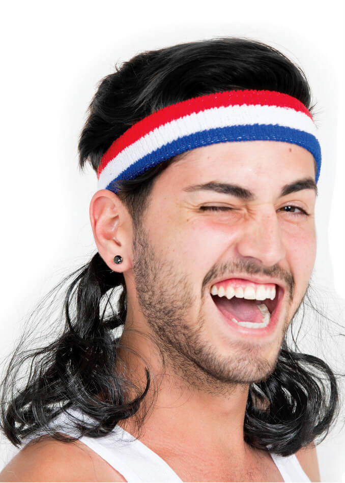 Adult Black Instant Mullet Headband - Candy Apple Costumes - 80 s Costumes b5d3f671ff5