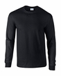 Adult Black Long Sleeve Tee Shirt