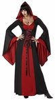 Adult Black/Red Hooded Robe Costume