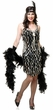 Adult Black/Silver Teardrop Mirror Sequin Flapper Costume