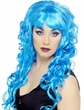 Adult Blue Curly Siren Wig
