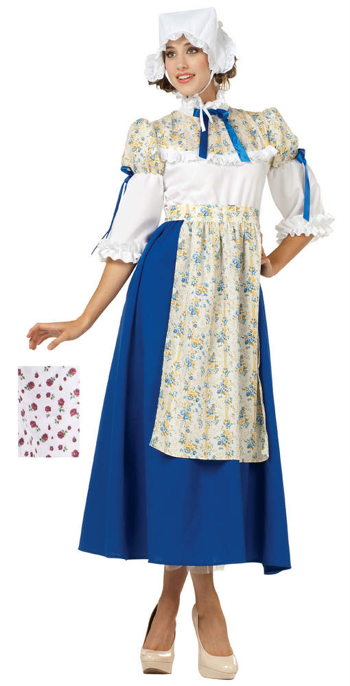 ... Adult Blue Floral Colonial Woman Costume ...  sc 1 st  Candy Apple Costumes & Adult Blue Floral Colonial Woman Costume - Candy Apple Costumes ...