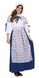 Adult Blue Floral Colonial Woman Costume
