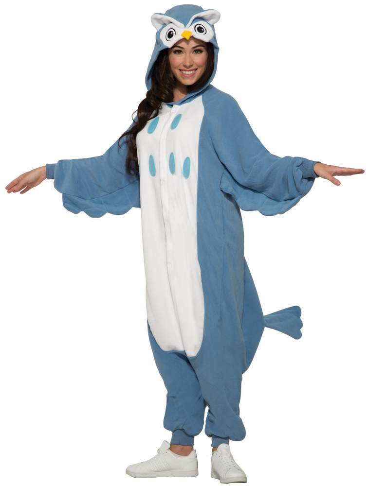 235433e27fc0 Adult Blue Owl Onesie Costume - Animal Costumes - Funny Costumes