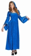 Adult Blue Renaissance Bella Hooded Dress Costume