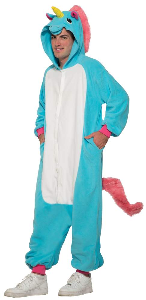 Adult Blue Unicorn Onesie Costume - Animal Costumes - Funny Costumes 20accfcdabab