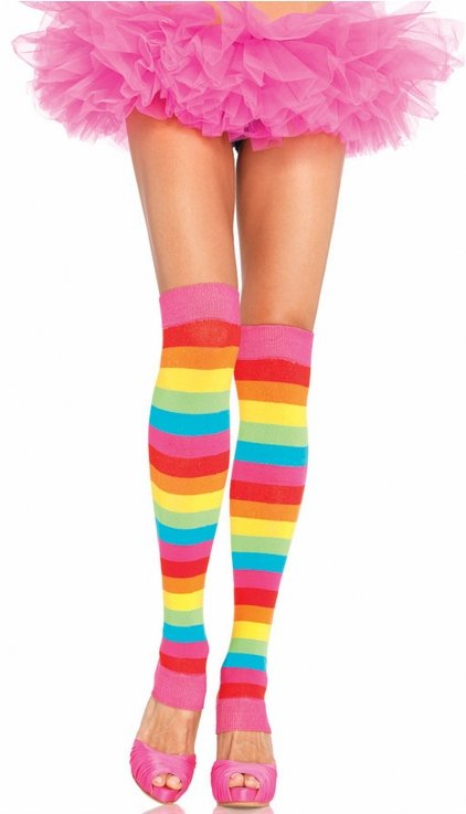 6c3f275a7 Adult Bright Rainbow Leg Warmers - Candy Apple Costumes - Pop ...