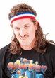 Adult Brown Instant Mullet Headband