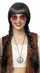 Adult Brown Pretty Pigtail Braids Wig