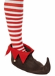 Adult Brown/Red Elf Shoes