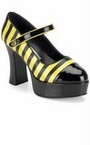 Adult Bumble Bee Platform Mary Jane Shoes