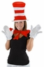 Adult Cat in the Hat Costume Kit - Hat, Gloves and Bow Tie