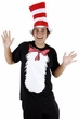 Adult Cat in the Hat Short Sleeve T-Shirt and Hat