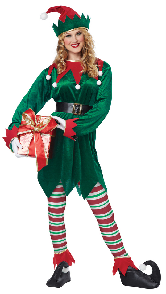 Christmas elf costume adult candy apple costumes
