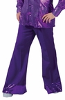 Adult Deep Purple Sequin Disco Pants