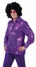 Adult Deep Purple Sequin Disco Shirt