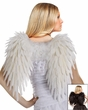Adult Deluxe Angelic Feather Wings - White or Black