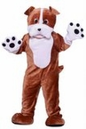 Adult Deluxe Plush Bull Dog Mascot Costume