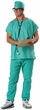 Adult Doctor Scrubs Costume & Stethoscope