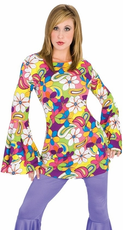 Adult Flower Power Hippie Shirt