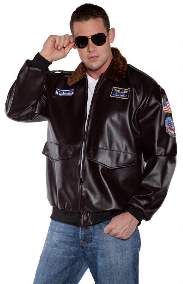 cc40df238341 Adult Flying High Pilot Jacket Costume - Candy Apple Costumes ...