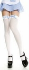 Adult Gingham Bow Thigh Highs - More Colors