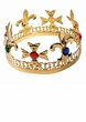 Adult Gold Jeweled Crown