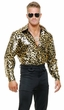Adult Gold Leopard Print Disco Shirt