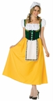 Adult Green/Yellow Milk Maid Costume