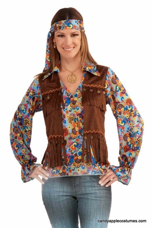 Adult Groovy Hippie Woman Costume
