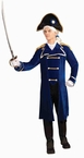 Adult Men's Historical Admiral Costume, Size M/L