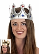 Child's Jeweled Fabric Royal Crown - Gold or Silver