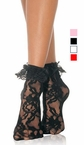 Adult Lace Ruffle Ankle Socks - More Colors